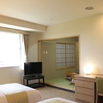 【和洋室(例)】ツイン+6帖和室のお部屋。和・洋両タイプあり便利!