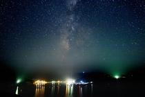 展望台からみた柏島の夜景