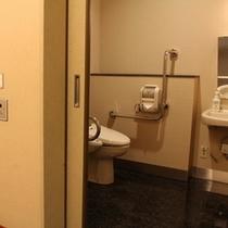 常磐苑(新館)1階のメインロビー土笛横の身障者用トイレ