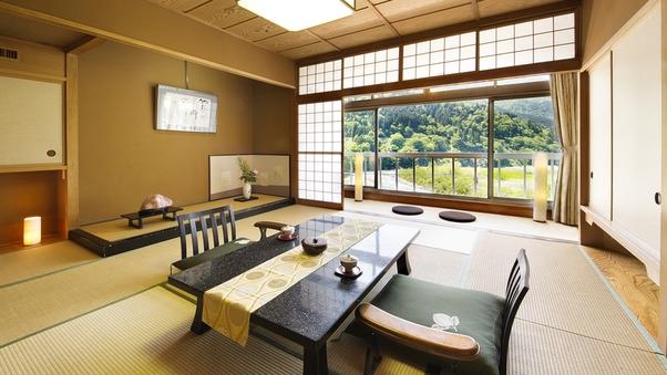黒部川ビュー&コーナー特別和室◆夕食は個室でゆっくりと♪♪
