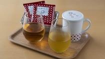 全客室/ティーコーディネーター厳選のオリジナルティー(緑茶とローズ茶)※写真はイメージ