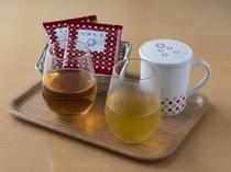 ティーコーディネーター厳選のオリジナルティ(緑茶とローズ茶)※写真はイメージ