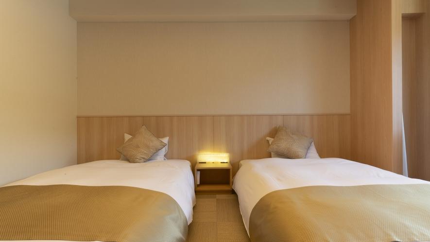 和モダンツイン8畳【34㎡】/プライベート重視な方にはベッドタイプがおすすめ