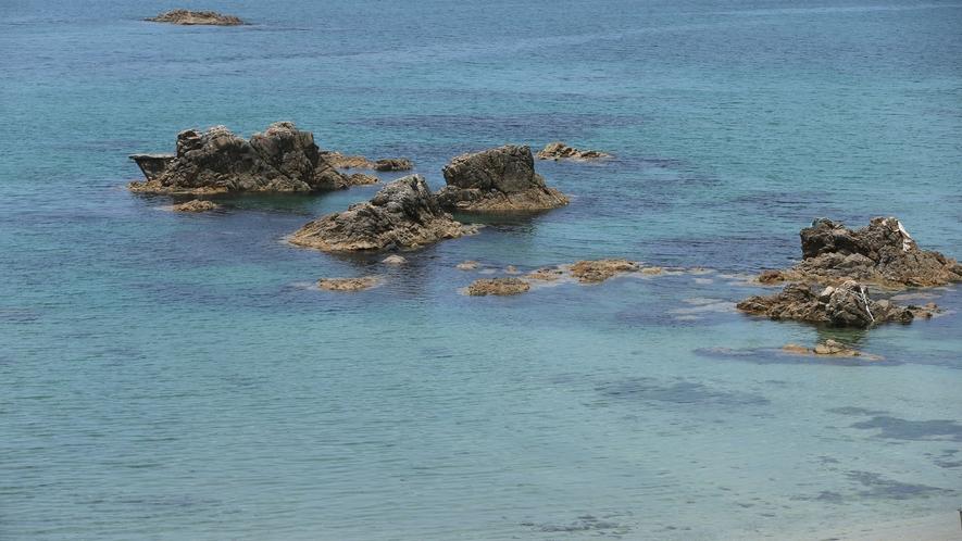 【東浜海水浴場】鳥取県の東の端に位置する東浜(ひがしはま)海水浴場 当館より車約30分