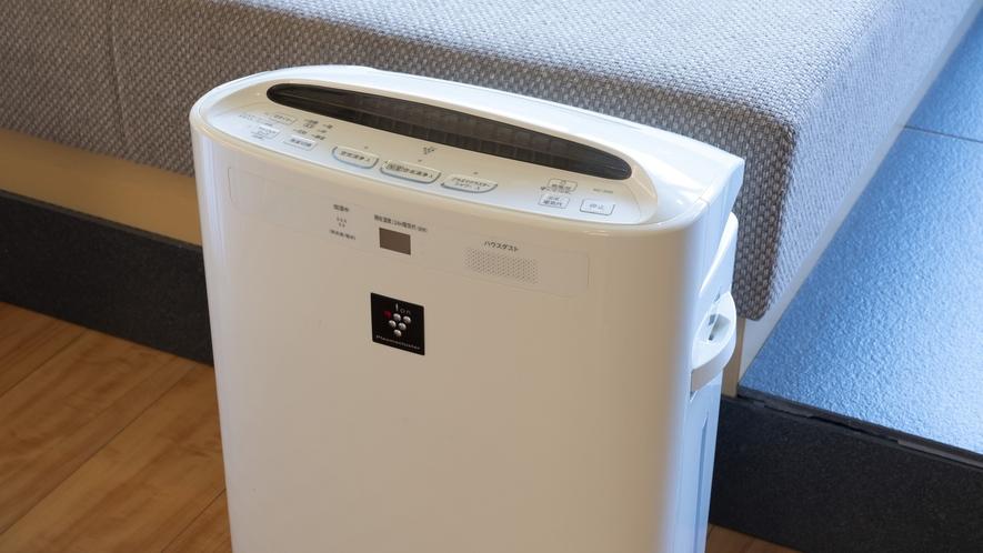 全客室/加湿機能付き空気清浄機プラズマクラスターを設置