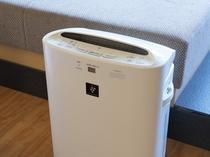 全客室に加湿機能付き空気清浄機プラズマクラスターを設置
