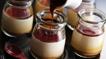"""【朝食】卵不使用、牛乳や生クリームで仕上げた当館手作りのきなこプリン 食後に""""冷たい""""ものを"""
