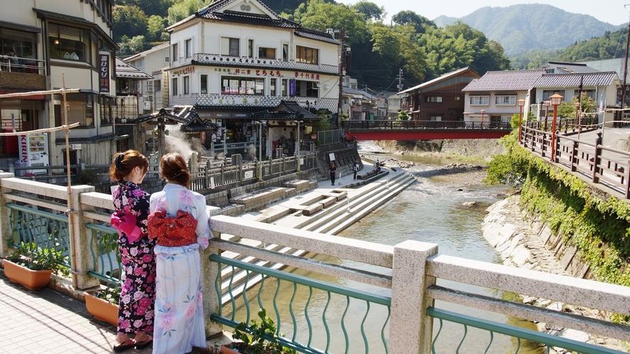 【湯村温泉/荒湯付近】伝統ある旅館が立ち並ぶ古き良き時代の静寂な温泉街 徒歩圏