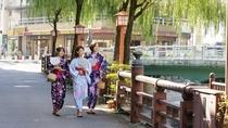 【湯村温泉/荒湯付近】緑の山々、春来川のせせらぎ 静かな温泉街(徒歩圏)