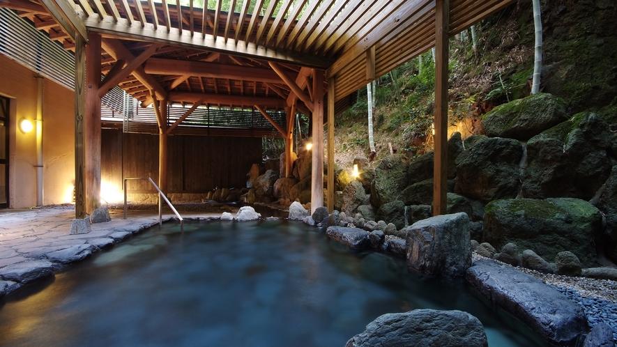 山側に位置する「やまの湯」/心地よく肌をつたう湯の温もりが、疲れた体を癒してくれます