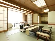 雅館和室10~12.5畳+8畳(マッサージチェア付)2世代・グループにオススメの次の間付客室。