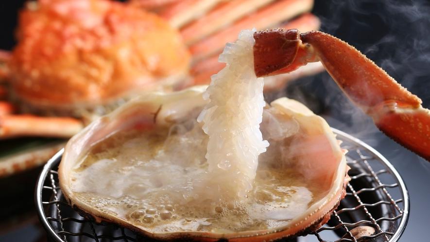 【ブランド】松葉蟹甲羅焼き(濃厚なカニ味噌)※写真はイメージ 地酒とも相性抜群
