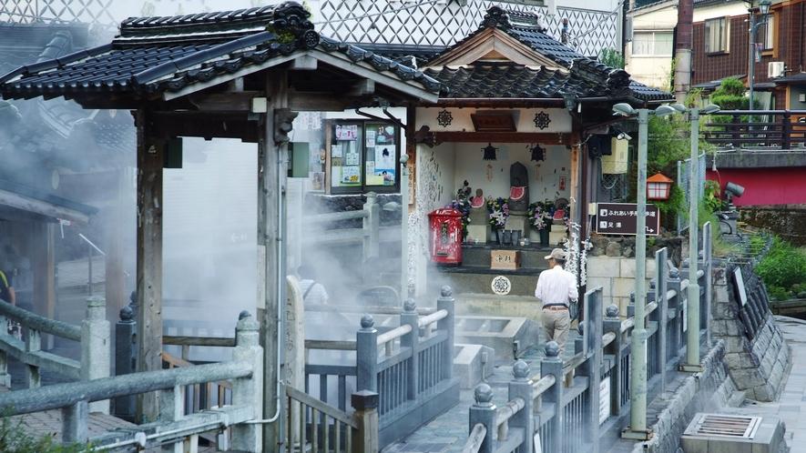 【湯村温泉/荒湯】平安時代に慈覚大師によって発見された湯村温泉の源泉は98度の高温泉 徒歩圏