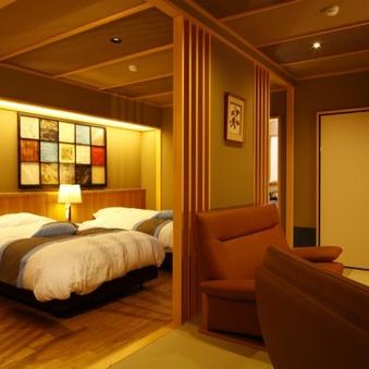 【504浅葱】和室8畳+広縁+ベッド2台+バス・トイレ付き