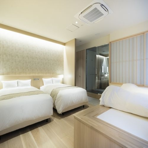 Room in Bath Twin with Spaspace 最大4名様迄ご宿泊可能