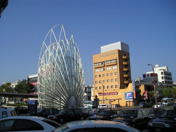駅から見た米子タウンホテル【徒歩1分】
