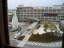 客室から見た米子駅