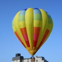 夏休み中のアクティビティ気球遊覧体験