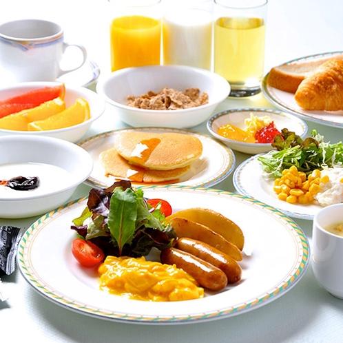 朝食バイキング盛付例(洋食中心)