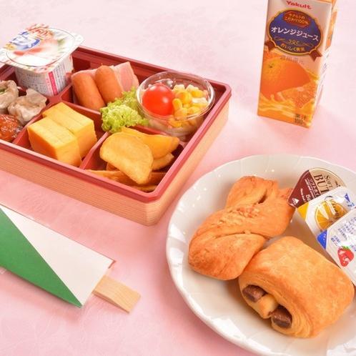 お部屋でお弁当お子様朝食一例