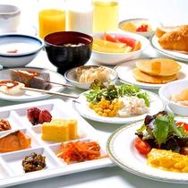 朝食バイキング盛付例(和食中心)