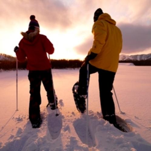 【アクティビティ】スノーシュー。ふわふわの雪の上を歩く感触に癒やされ感動♪