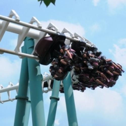 【遊園地】ハリケーン 爽快バージョン!空の青と大地の緑の上を爽快に駆け抜ける高原遊園地!
