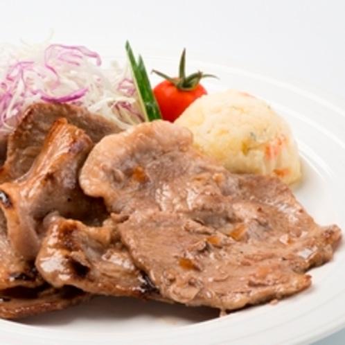 【ゲレンデdeランチ】ゲレ食「ルスツ高原ポークの生姜焼き定食」