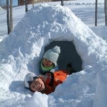 【雪遊び】家族でかまくら作って遊んじゃった♪