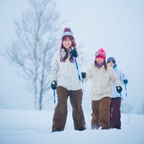【アクティビティ】クロスカントリースキー体験。フィットネスにも最適♪雪の上を楽々散策♪歩きましょう♪