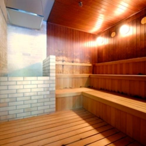 【館内施設】サウスウイング大浴場(沸かし湯)内サウナ