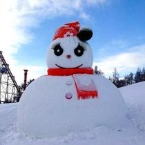 【冬イベント】巨大雪だるま登場!