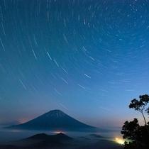【羊蹄パノラマテラス】星空と羊蹄山