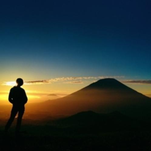 【羊蹄パノラマテラス】夕陽と羊蹄山