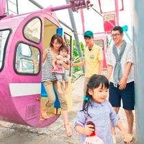 【遊園地】大観覧車。家族でのんびり景色を楽しむことができるアトラクション