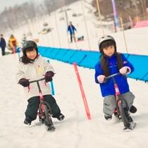【雪遊び】こどもが楽しい雪遊びいっぱい♪キッズ広場でランニングバイク、そりやチュービングも有り。