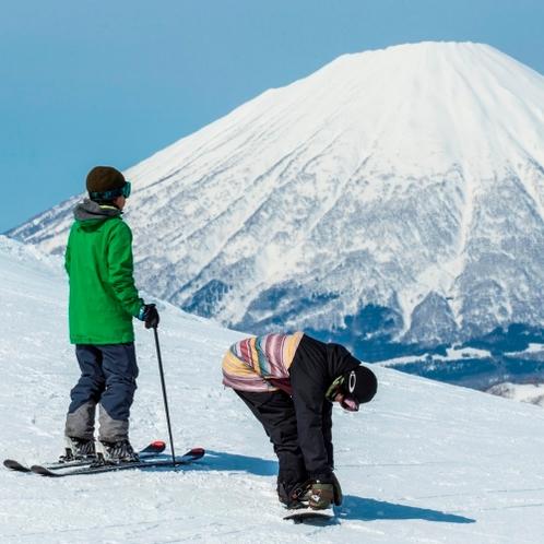 【ゲレンデ】晴れた日には羊蹄山を眺めながら♪