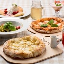 【遊園地内ランチ】ルースとムースの森カフェ:焼き立て窯ピザをどうぞ♪※営業時間は別途要確認
