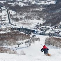 【ゲレンデ】幅広で滑りやすいゲレンデ♪北海道スノーを味わって!