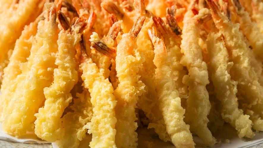【夕食バイキング】揚げたての天ぷらをどうぞ♪