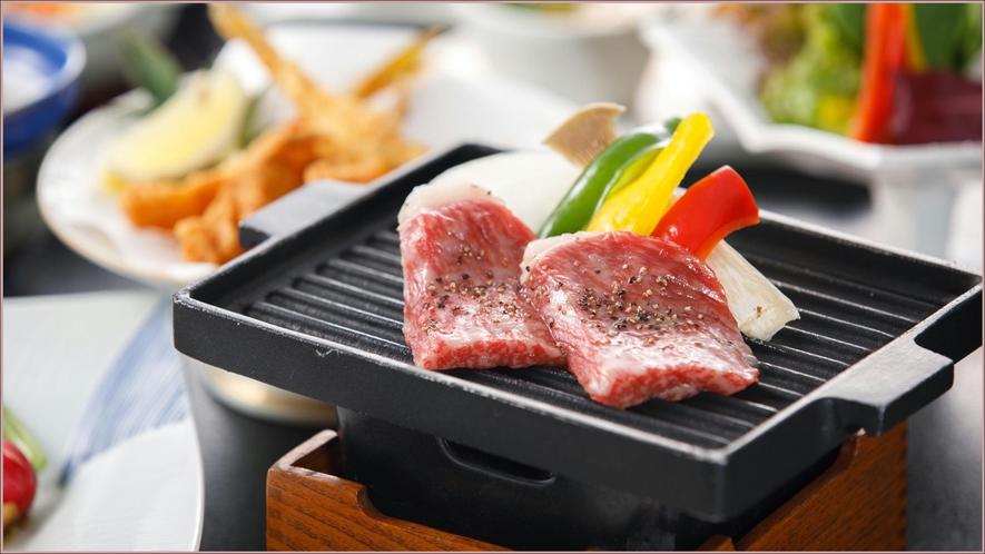 長萩和牛のステーキ