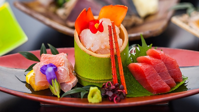 【楽天トラベルセール】「特選 紅の幸」☆海老・蟹・マグロ・鰹会席 山海の紅の食材づくし!