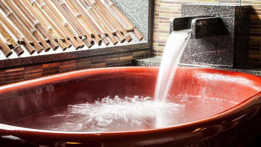 高知城を望む露天風呂
