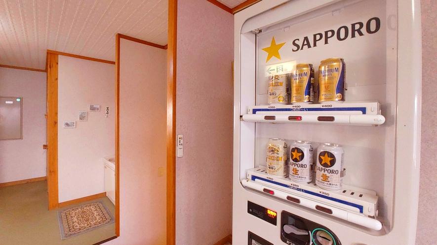 館内_お酒の自販機は2階にございます。