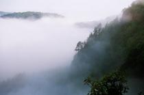 旧敢湖台雲海の朝