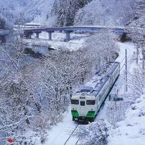 *【JR只見線】冬 ノスタルジックな風景は、撮ってよし!乗ってよし!です。