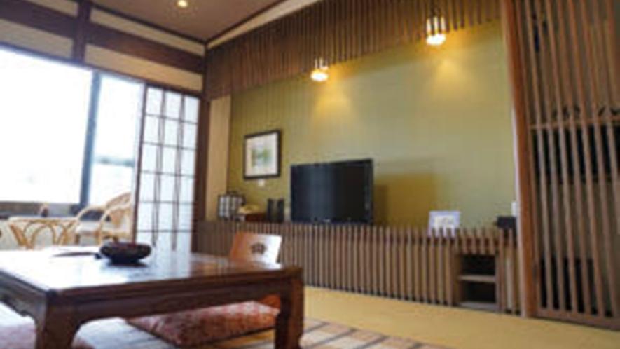 *川沿い限定和室10畳トイレ付(一例)畳の香りがほのかに薫るお部屋でお寛ぎ下さい。