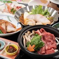 *【夕食一例/和牛陶板】やっぱりお肉も食べたい!和牛肉を陶板焼きでお召し上がりください。