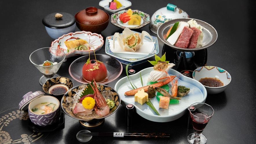 *夏の会席(一例) -旬の食材を季節感じる料理に仕上げました