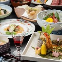 春の会席(一例) -旬の食材を季節感じる料理に仕上げました